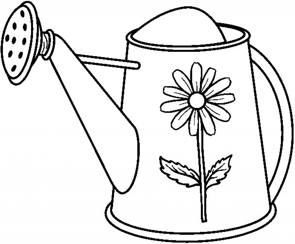 Watering can clipart black and white clip art free library Watering Can Clipart | Free download best Watering Can ... clip art free library