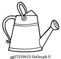 Watering can clipart black and white svg library stock Watering Can Clip Art - Royalty Free - GoGraph svg library stock