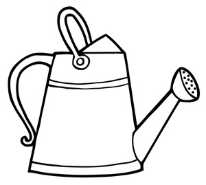 Watering can with flowers clipart black and white banner royalty free stock Watering can clip art free clipart images 7 - WikiClipArt banner royalty free stock