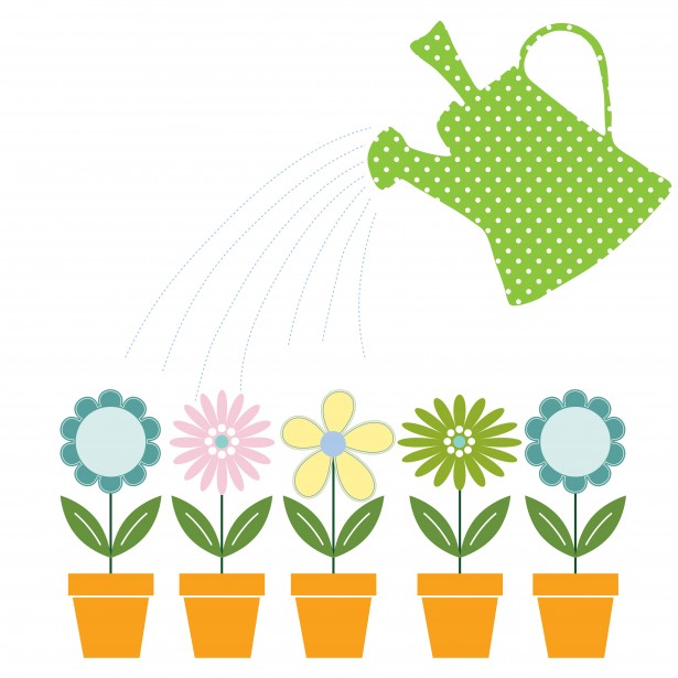 Watering can flowers clipart png black and white download Flowers & Watering Can Clipart Free Stock Photo - Public ... png black and white download