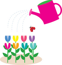 Watering can flowers clipart clipart black and white library Search Results for watering can - Clip Art - Pictures ... clipart black and white library