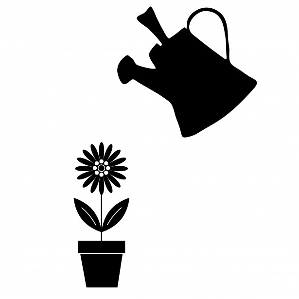 Watering can flowers clipart banner free stock Flower & Watering Can Clipart Free Stock Photo - Public ... banner free stock