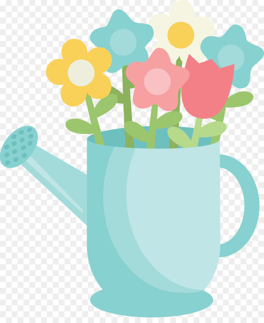 Watering can flowers clipart picture royalty free library Flower Garden png download - 1332*1600 - Free Transparent ... picture royalty free library