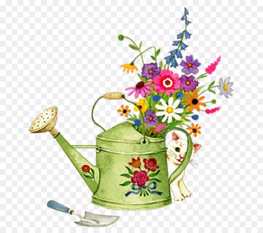 Watering can flowers clipart banner royalty free download Flowers Clipart Background png download - 800*800 - Free ... banner royalty free download