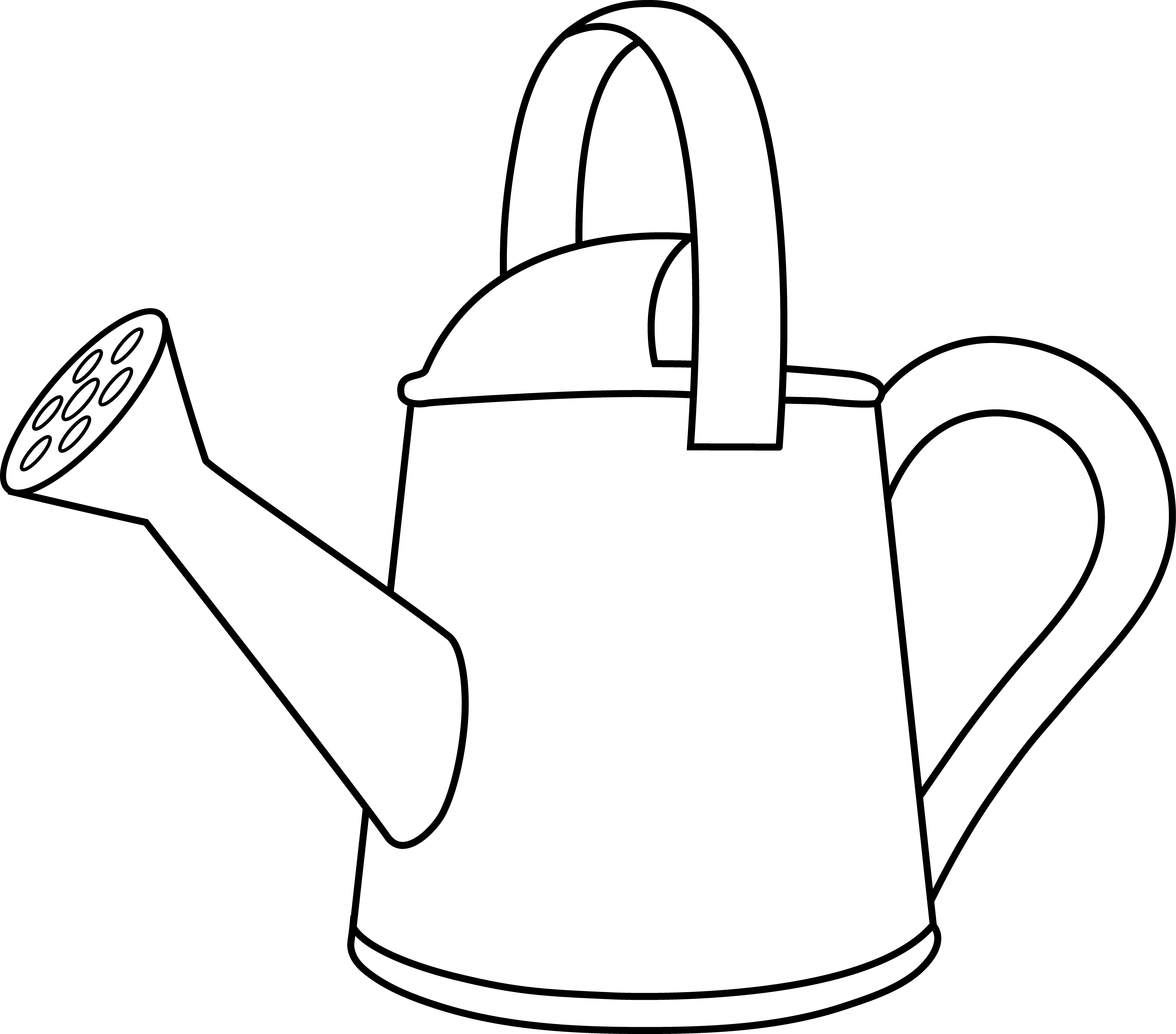 Watering can pictures clipart clip freeuse library Watering Can Lineart to Color in | Cricut and SVG | Coloring ... clip freeuse library