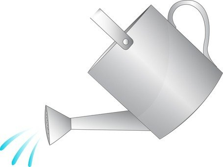 Watering can pictures clipart vector black and white Free Watering Cans Clipart and Vector Graphics - Clipart.me vector black and white