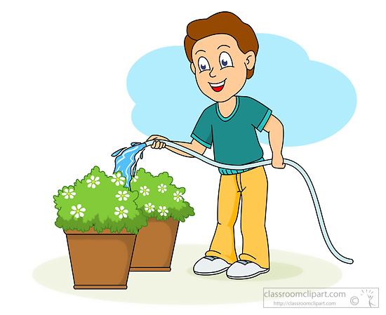 Kids planting flowers clipart clip library Watering Clipart | Free download best Watering Clipart on ... clip library