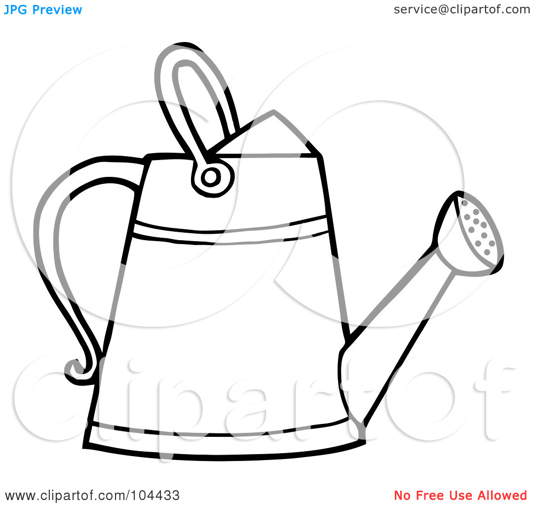 Watering tool clipart picture black and white download Watering Can Clipart | Free download best Watering Can ... picture black and white download