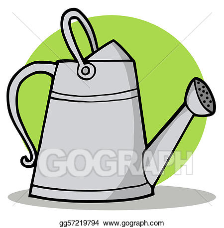 Watering tool clipart clip Vector Stock - Metal gardening watering can. Clipart ... clip