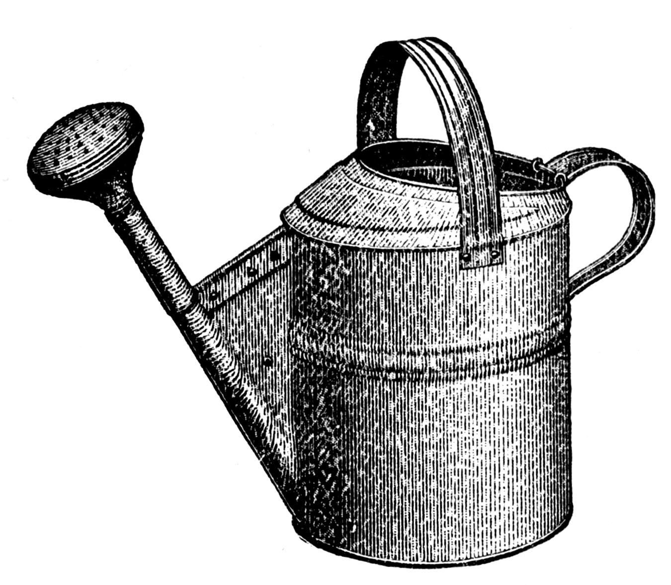 Watering tool clipart clip art black and white library 8 Garden Tools Clip Art - Updated! - The Graphics Fairy clip art black and white library
