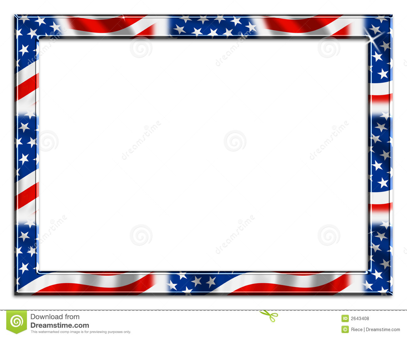 Watermark memorial day clipart banner black and white download Memorial Day Borders Group with 20+ items banner black and white download