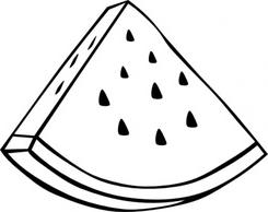 Watermelon clipart monochrome svg freeuse Watermelon clipart black and white 6 » Clipart Station svg freeuse