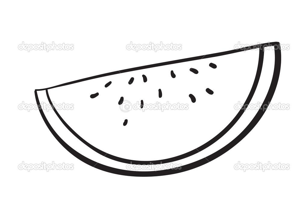 Watermelon clipart monochrome svg freeuse stock Watermelon Clipart Black And White | Free download best ... svg freeuse stock