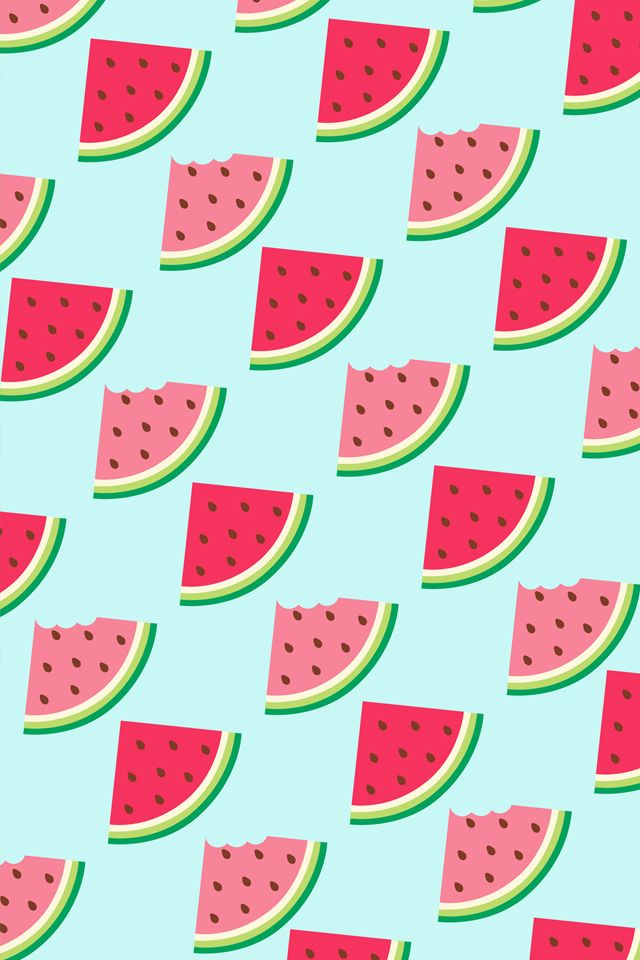 Watermelon clipart wallpaper jpg library stock Watermelon #Pattern / Download more #Fruity #iPhone ... jpg library stock