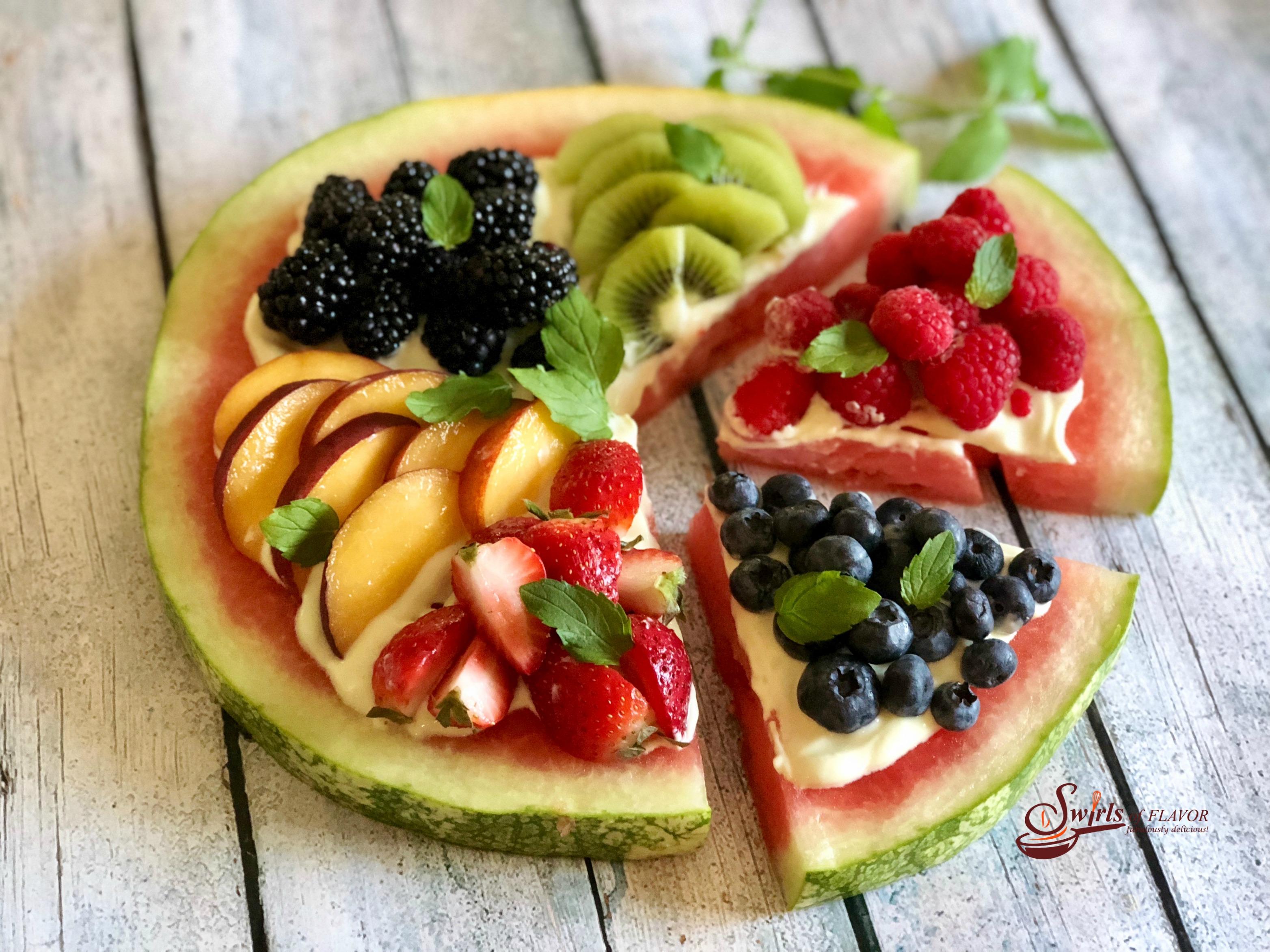 Watermelon peaches berries clipart jpg royalty free Watermelon Pizza jpg royalty free