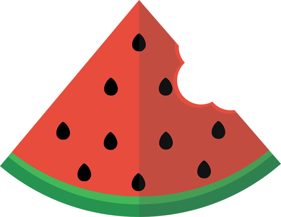 Watermelon slice with bite clipart with transparent background clipart transparent Free photo Watermelon Slice Flat - Max Pixel clipart transparent
