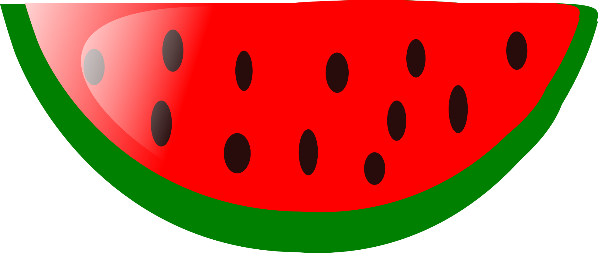 Seedless watermelon half clipart black and white png transparent download Watermelon Slice Clipart | Free download best Watermelon ... png transparent download