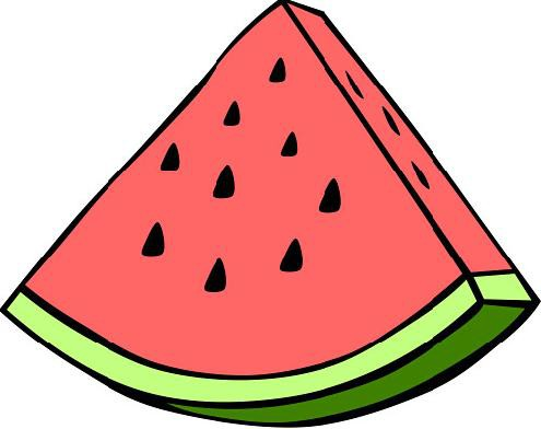 Watermelon without seeds clipart clip art royalty free download Seedless watermelon slice clipart free – Gclipart.com clip art royalty free download