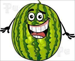 Watermelon xigua clipart