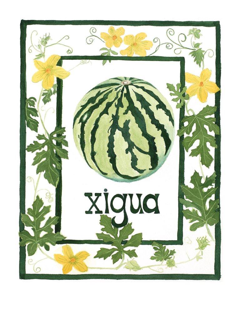 Watermelon xigua clipart clipart stock X is for Xigua clipart stock