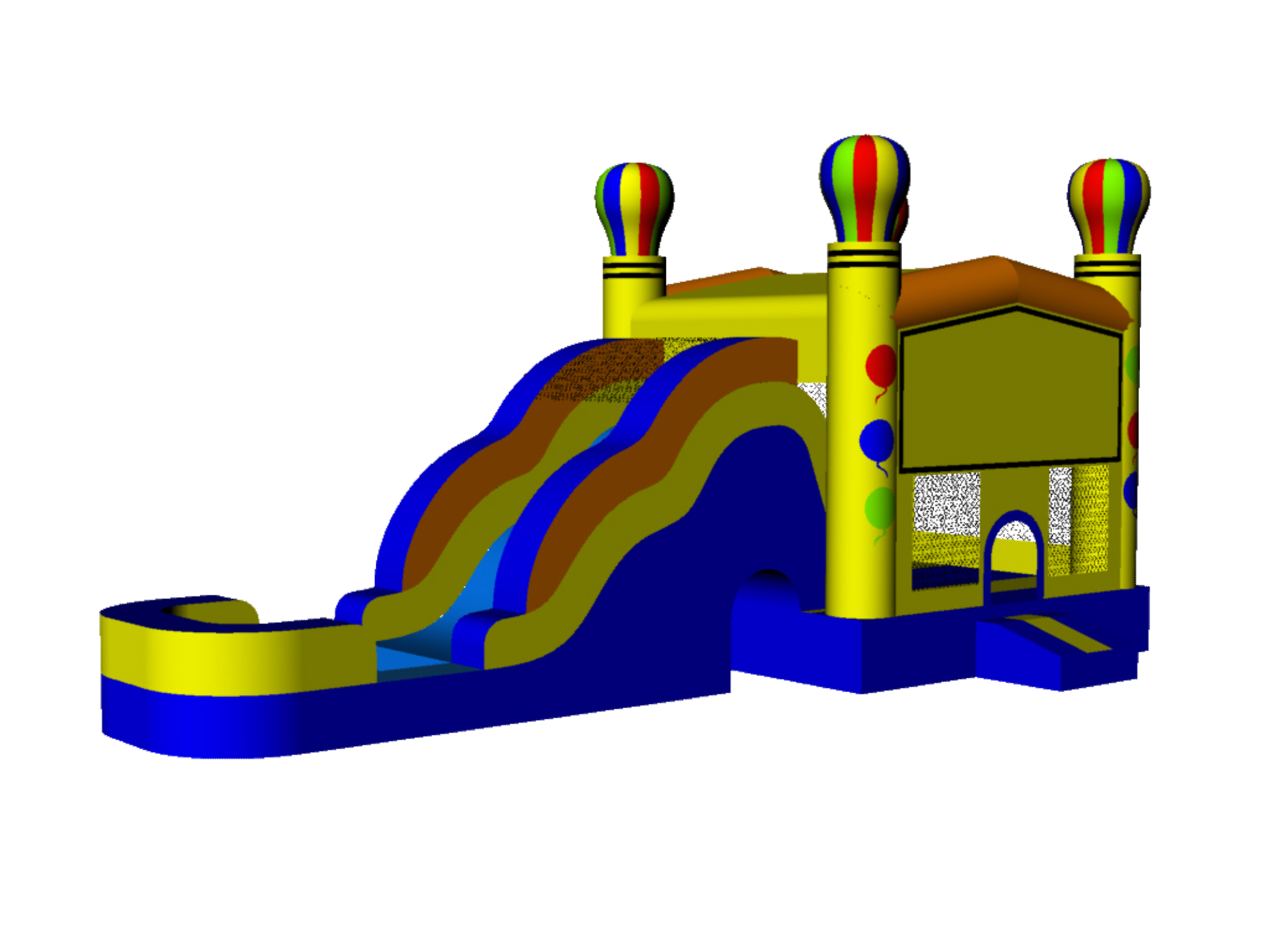 Waterslid bouncy house clipart image Inflatable Water Slide Clipart | Free download best ... image