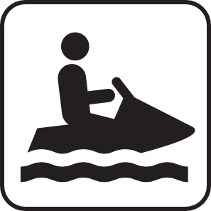 Watersports clipart picture transparent library Personal Water Craft Watercraft White Clip Art at Clker.com ... picture transparent library
