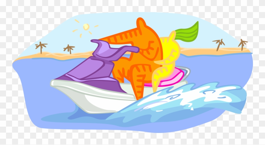 Watersports clipart jpg freeuse Vector Illustration Of Personal Watercraft Water Sports ... jpg freeuse