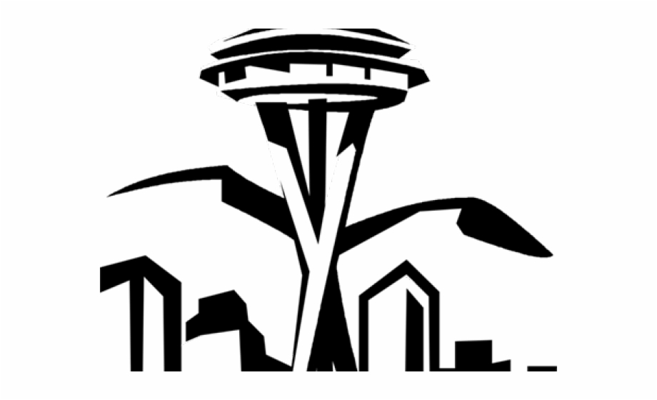 Watertower seattle clipart banner black and white stock Seattle Clipart Space Needle - Space Needle White Clip Art ... banner black and white stock