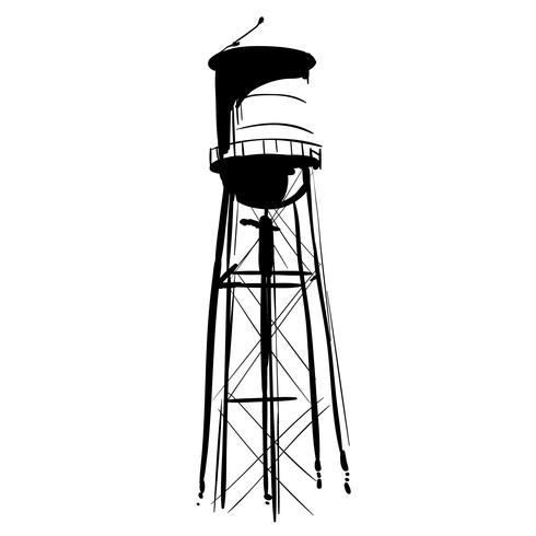 Watertower seattle clipart graphic free water tower vector eps - Download Free Vectors, Clipart ... graphic free