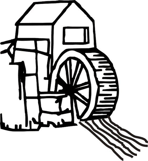 Waterwheel clipart image black and white Clipart water wheel » Clipart Portal image black and white