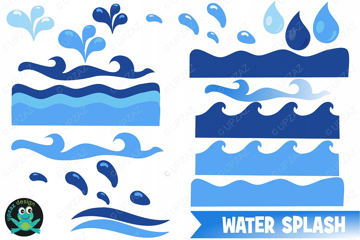 Wave b clipart vector library stock Water Waves Clipart vector library stock