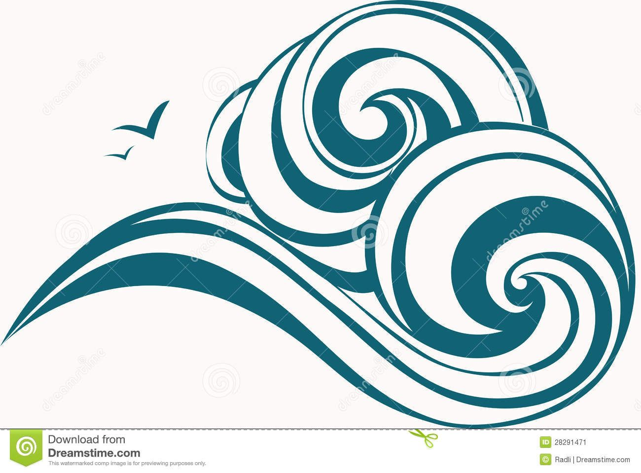Wave clipart image royalty free Ocean Waves Clipart | Clipart Panda - Free Clipart Images ... royalty free