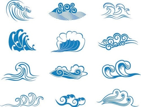 Wave doodle clipart vector library library Wave free vector download (3,501 Free vector) for commercial ... vector library library