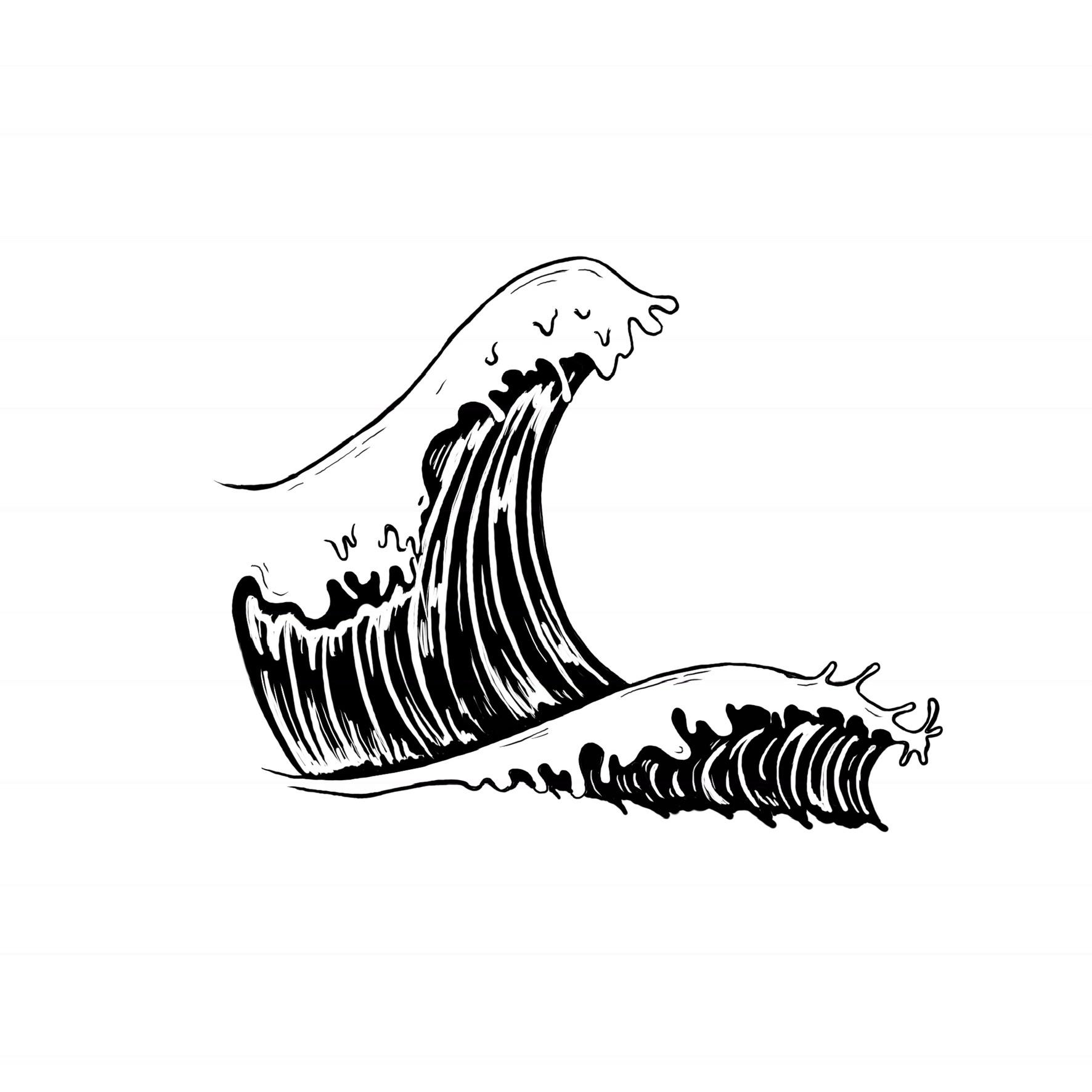 Wave doodle clipart clipart black and white Wave study : doodles clipart black and white