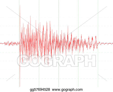 Wave graph clipart clipart library stock Stock Illustrations - Earthquake wave graph . Stock Clipart ... clipart library stock