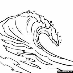 Waves drawing outline clipart stock Pin by eric west on Waves carved in plywood | Wave drawing ... stock