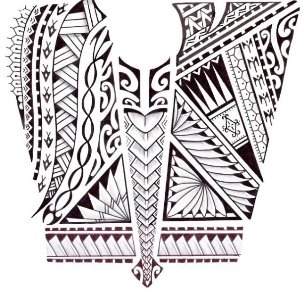 Waves tattoo polynesian clipart free An arm tattoo design with fish, turtle shells, leaves, birds ... free