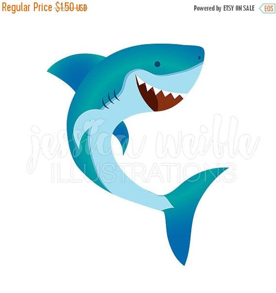 Waves with shark clipart graphic library stock Happy Shark Cute Digital Clipart, Cute Shark Clip art, Shark ... graphic library stock
