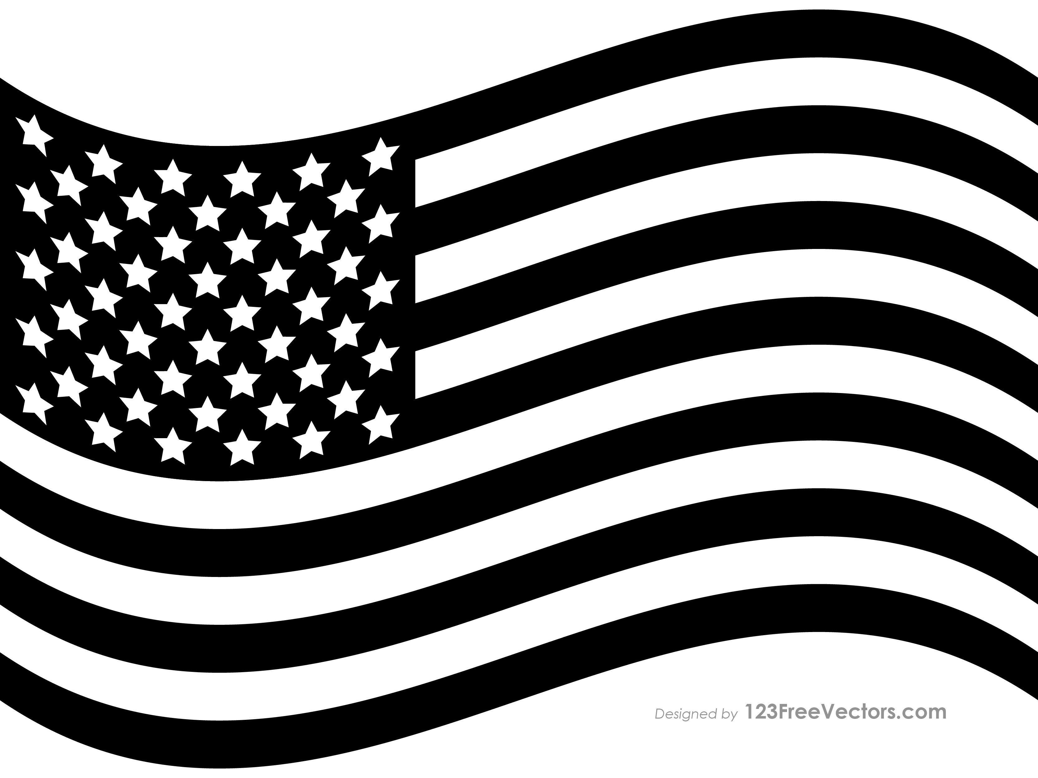 Waving american flag clipart black and white image transparent library 90+ USA Flags Vectors | Download Free Vector Art & Graphics ... image transparent library
