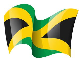 Waving jamaica flag clipart