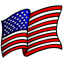 Waving us flag clipart vector library stock Us flag waving american flag clipart the cliparts - Clipartix vector library stock