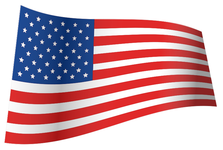 Waving us flag clipart graphic free File:US Flag - iconic waving.svg - Wikimedia Commons graphic free