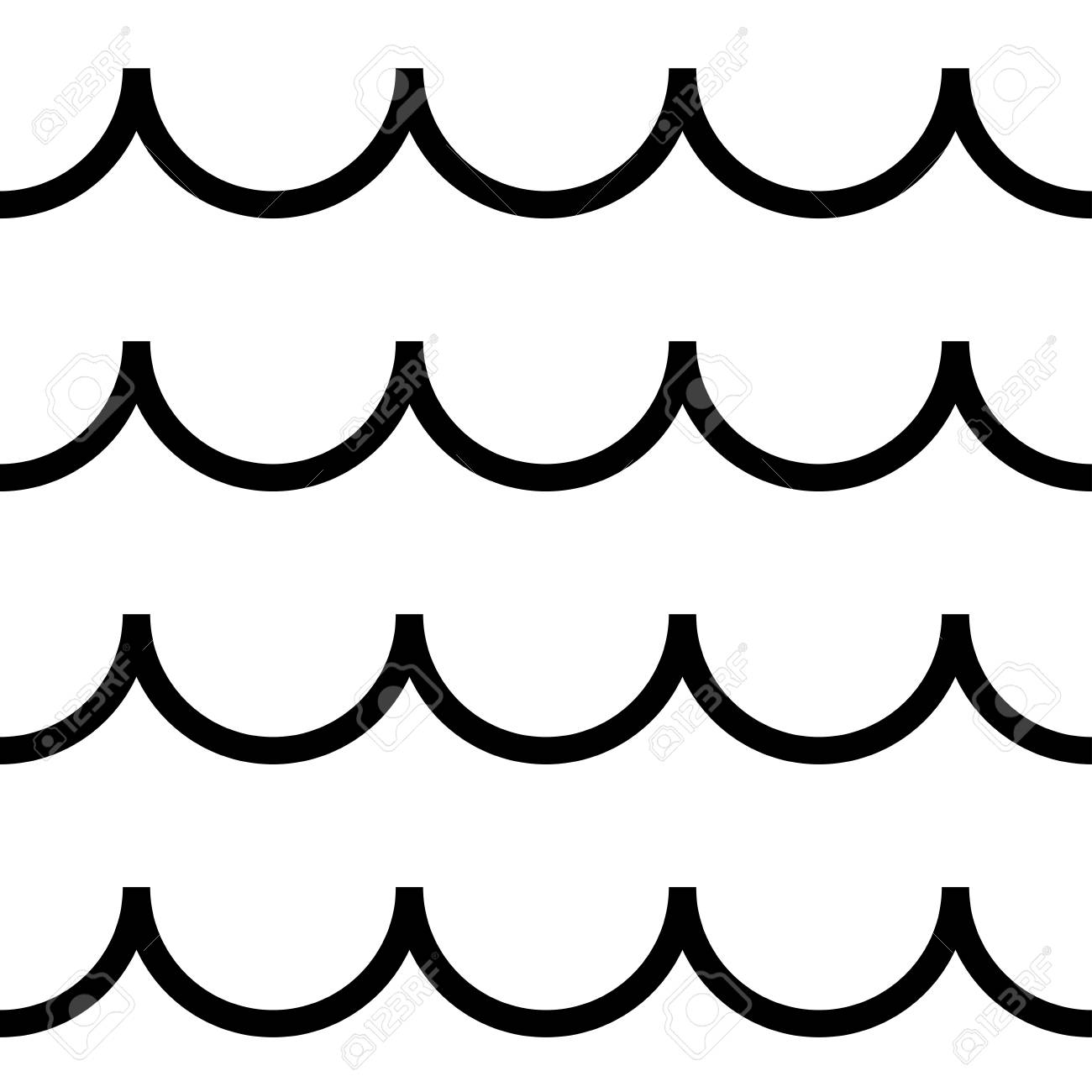 Wavy clipart clipart free download Vector seamless pattern, horizontal wavy lines. » Clipart ... clipart free download