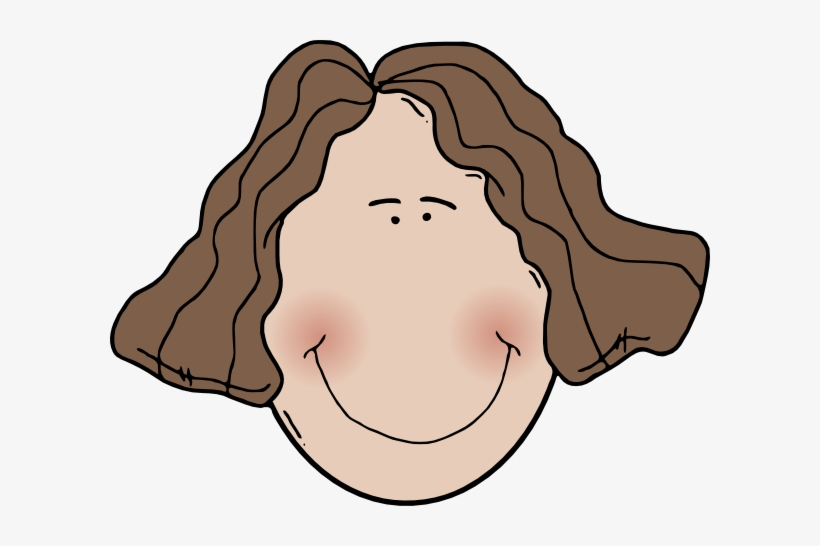 Wavy clipart picture library download Lady Face With Wavy Hair Clip Art - Wavy Hair Clipart - Free ... picture library download