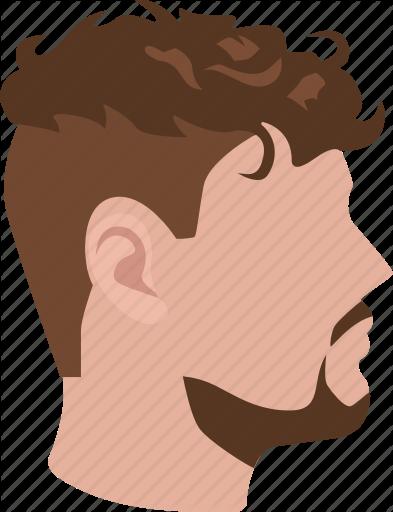 Wavy hair men clipart transparent stock \'Male hairstyles color\' by Jisun Park transparent stock