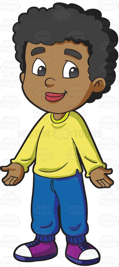 Wavy hair men clipart png library download A black male primary school student with curly hair | Stuff ... png library download
