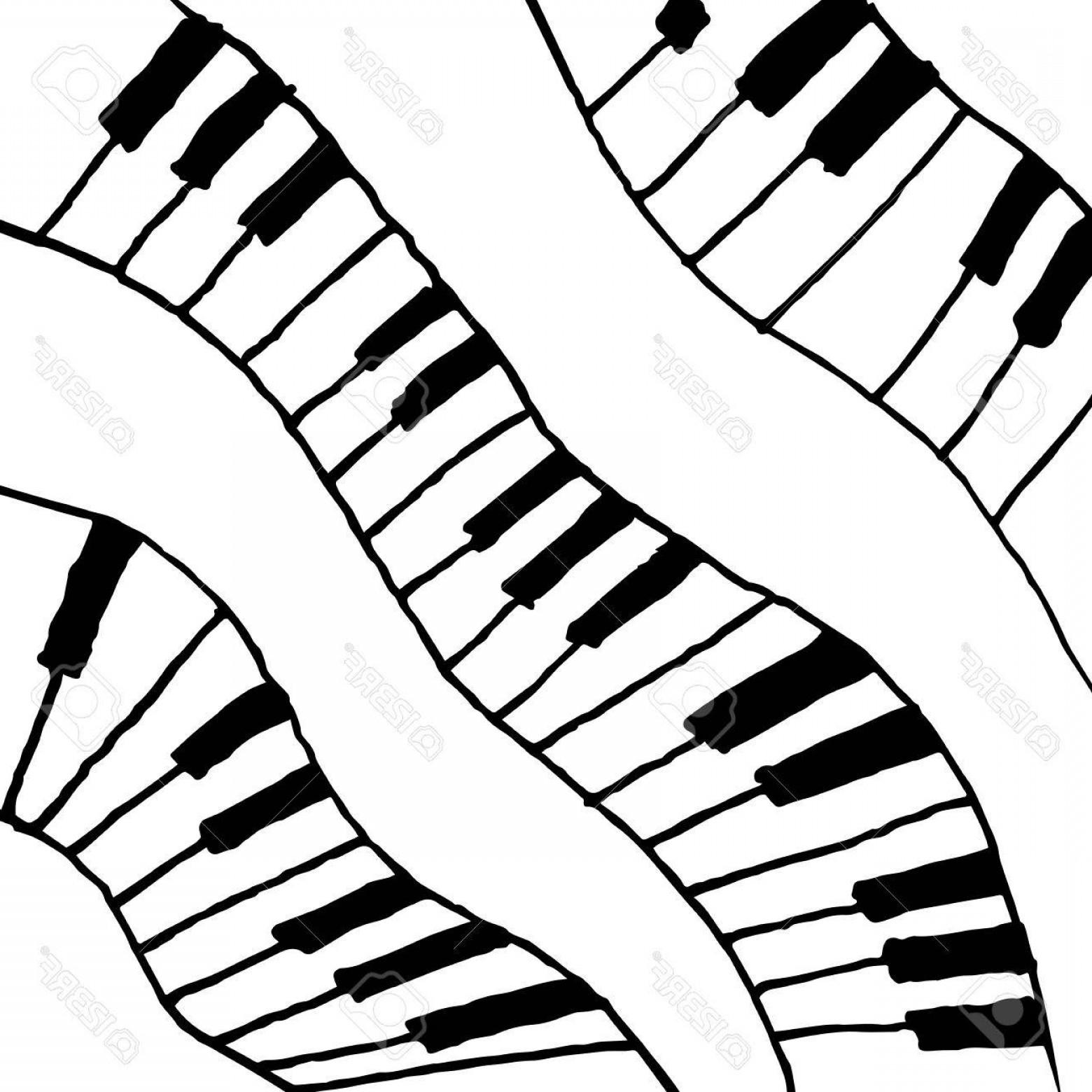 Wavy piano keys drawing clipart clipart royalty free stock Photostock Vector Piano Keys Sketch Abstract Music ... clipart royalty free stock