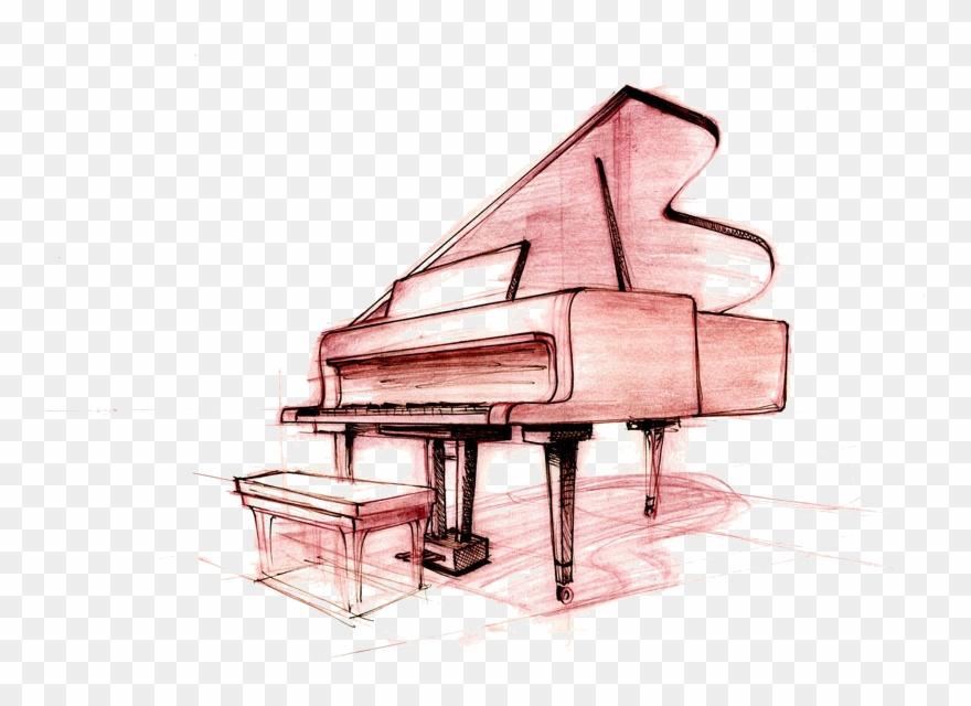 Wavy piano keys drawing clipart png library download Piano Keys Drawing - Piano Drawing Clipart (#3217117 ... png library download
