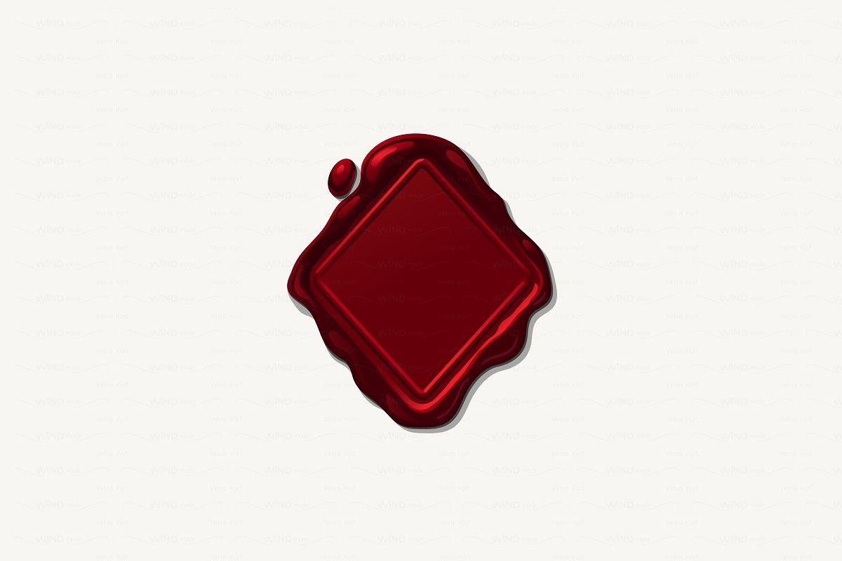 Wax seal clipart illustrator free ♥ vector Wax geometric seal free
