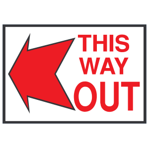 Way out clipart clip royalty free stock This Way Out Left Sign Magnet clip royalty free stock